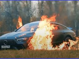 [Video] Russian vlogger sets his ₦65million Mercedes-AMG sports car on fire