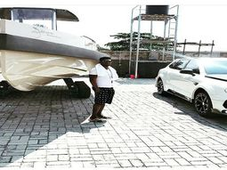 Obafemi Martins flaunts his ₦176m Yacht, ₦35m G-Wagon & ₦88m Bentley Bentayga in new pictures