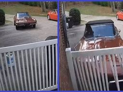 [Video] Man crashes his 1966 Chevrolet Corvette vintage sports car after showing it off to daughter's boy friend
