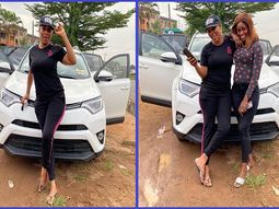 Nollywood Actress Kemi Korede flaunts her new Toyota RAV4 compact SUV
