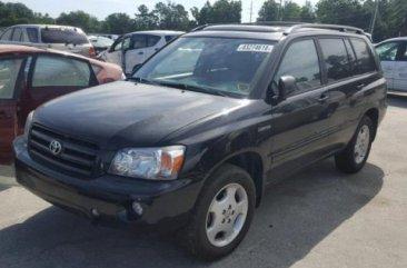 Clean Toyota Highlander 2006 Black for sale