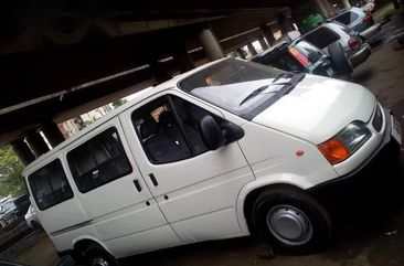 Bus is buy and use Ford Transit 2000 White color for sale