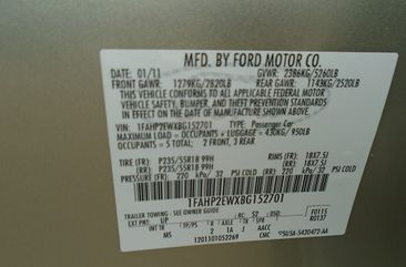 Clean Nigerian Used Ford Taurus 2011 Model for Sale