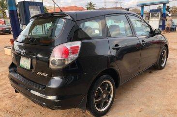 Neat Nigerian Used Toyota Matrix 2006 Model Black