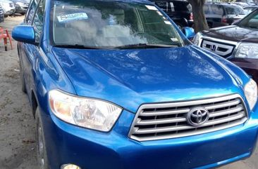 Tokunbo Toyota Highlander 2008 Model  Blue