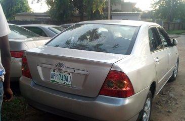 Nigeria Used Toyota Corolla 2005 Model Silver for Sale