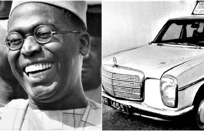 Behold Obafemi Awolowo's Mercedes-Benz 230.6 in his Ikenne home