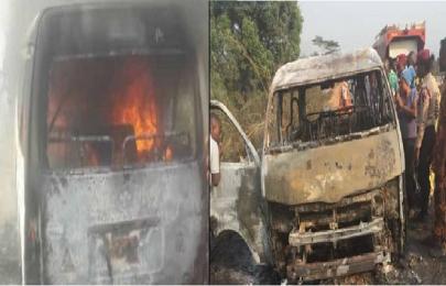 Toyota HiAce bus explosion in Ogun burns 9 to death, injures 3