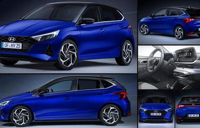 See photos of the 2021 Hyundai i20 compact hatchback that just debuted with new tech and design