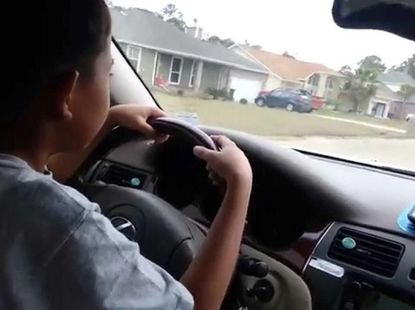 Recklessness or blind trust? Mum lets 11-year-old boy drive her car!