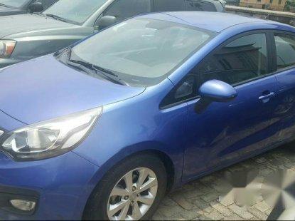 Clean Kia Rio 2014 Blue for sale