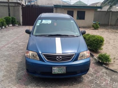 Neatly used Mazda MPV 2003 Blue color for sale