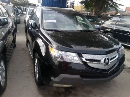 Used black 2008 Acura MDX automatic car at attractive price