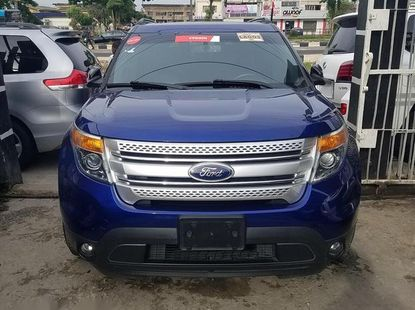 Well maintained blue 2012 Ford Explorer automatic for sale at price ₦9,500,000