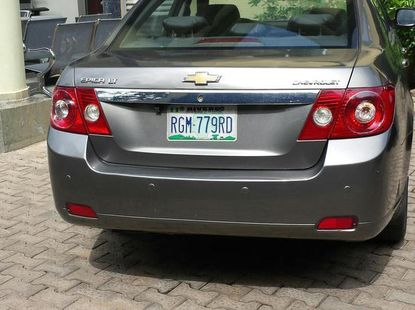Grey/silver 2008 Chevrolet Epica car at attractive price in Abuja