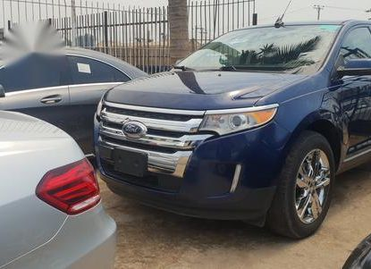 Blue 2012 Ford Edge suv  automatic at mileage 77,256 for sale