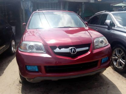 Red 2005 Acura MDX for sale at price ₦1,950,000