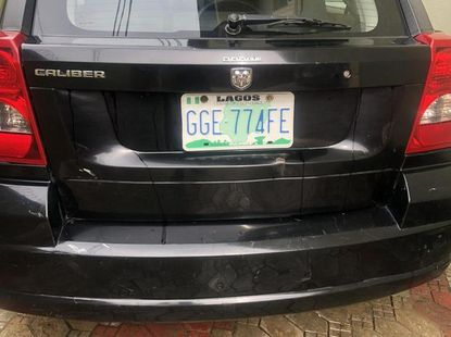 Best priced used black 2009 Dodge Caliber automatic in Lagos