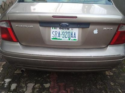 Gold 2005 Ford Focus automatic for sale at price ₦800,000 in Ikeja