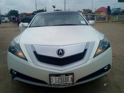 Sell used white 2012 Acura ZDX sports at price ₦8,300,000