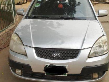 Nigerian Used Kia Rio 2006 Model Silver Colour in Lagos