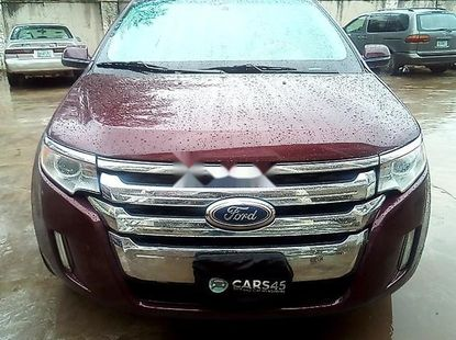Selling red 2014 Ford Edge automatic at price ₦3,050,957