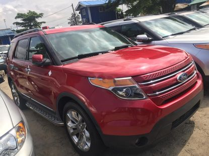 Foreign Used Ford Explorer 2012 Red
