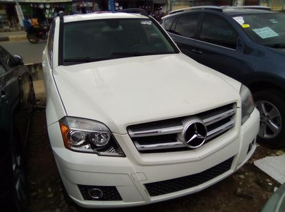 White Foreign Used Mercedes Benz GLK 350 2012 Model