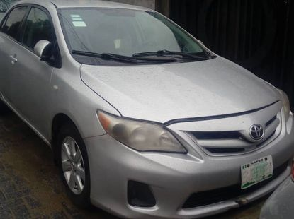 Toyota Corolla for Sale in Lagos Silver 2012 Model Tokunbo