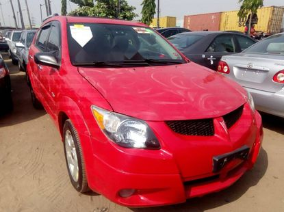 Foreign Used Pontiac Vibe 2004 Model Red