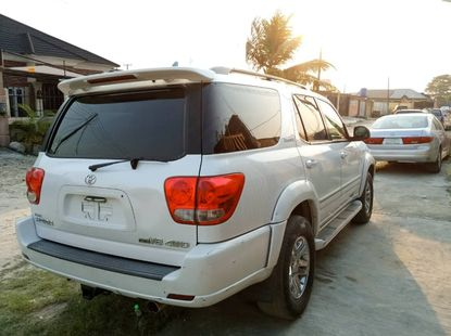 Foreign Used Toyota Sequoia 2005 Model White