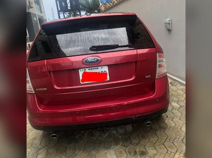 Nigeria Used Ford Edge 2008 Model Red