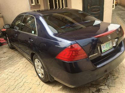 Nigeria Used Honda accord  2008 Model Blue