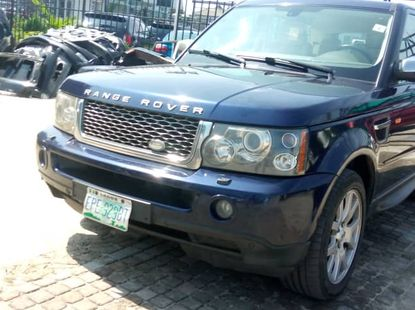 Nigeria Used Range Rover Sport 2008 Model Blue