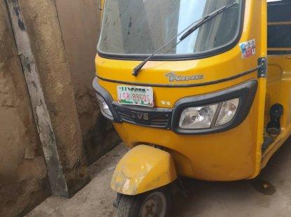 Nigeria Used TVS Tricycle Keke 2019 Model Yellow