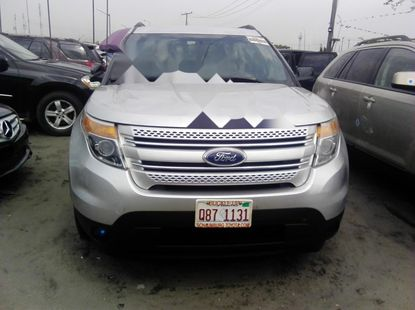 Foreign Used 2010 Silver Ford Explorer for sale in Lagos