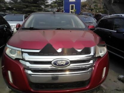 Foreign Used Ford Edge 2012 Model Red
