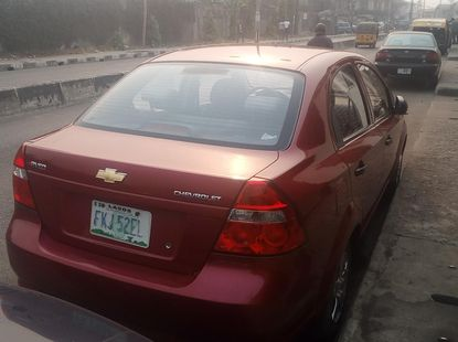 Nigerian Used Chevrolet Aveo 2008 Model Red for Sale