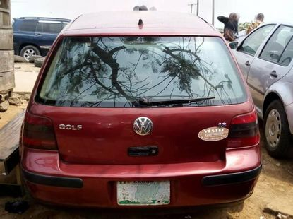 Nigeria Used Volkswagen Golf 2003 Model Red