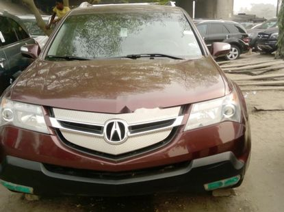 Foreign Used Acura MDX 2008 Model Red