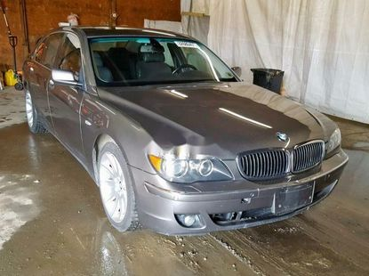 Foreign Used BMW 7 Series 2006 Model Silver