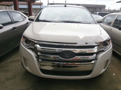 Foreign Used Ford Edge 2012 Model white