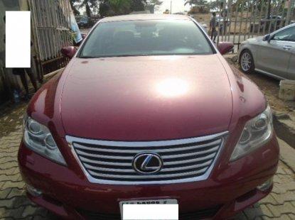 Nigeria Used Lexus LS 2010 Model Red