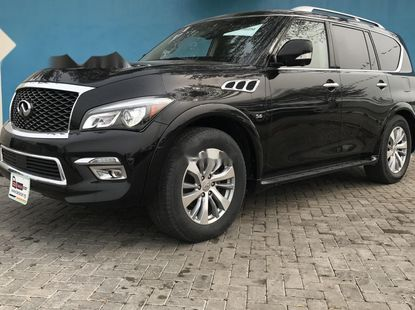 Foreign Used Infiniti QX80 2015 Model Black