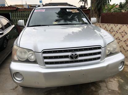 Super Clean Foreign Used Toyota Highlander 2002 Model
