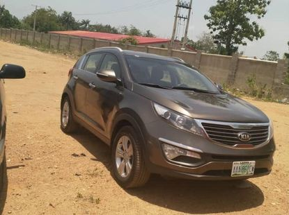 Nigeria Used Kia Sportage 2014 Model Gray