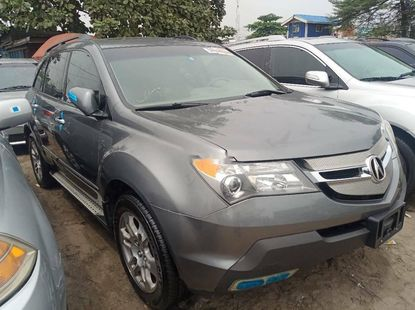 Foreign Used 2009 Grey Acura MDX for sale in Lagos.