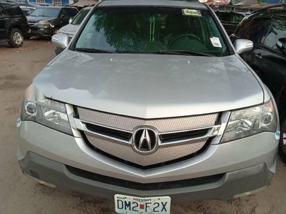 Foreign Used Silver 2008 Silver Acura MDX for sale in Lagos.