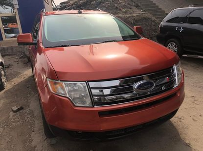 Well Maintained Foreign Used Orange Ford Edge 2008 Model