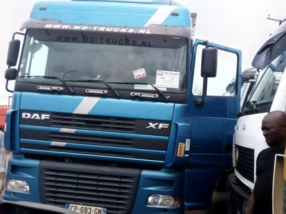 Foreign Used DAF XF95 2010 Model Blue
